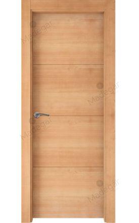 Puerta interior actual madera Nature, maciza ld3 Lin R3, haya H. Madegar