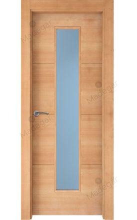 Puerta interior actual madera Nature, maciza ld3 Lin R3 1VLCP, haya H. Madegar