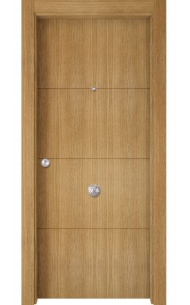 Puerta Entrada actual madera Nature, maciza ld3 Lin R3, roble V. Madegar