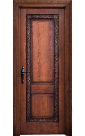 Puerta interior clásica rústica Adarves K, maciza Adarves-K12, al-nogal. Alpujarreñas