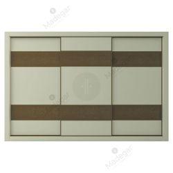 Armario de diseño, corredera, combinación en lacado colores y efecto cuero. Modelo Mdg6