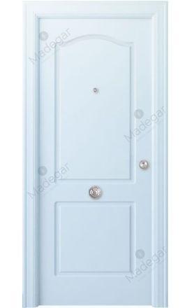 Puerta entrada seguridad madera blindada Arc R-Saler - blanco. Madegar