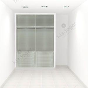 Interior armario I01159 Style 2 Módulos, acabado melamina Fiore Tepee