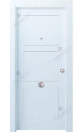 Puerta entrada blindada Selection Bertiz 3 - blanco. Madegar