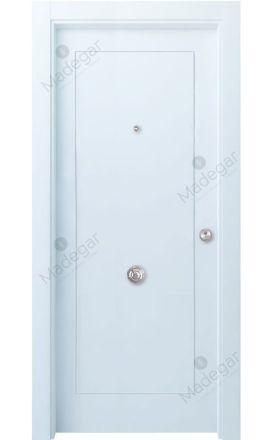 Puerta entrada seguridad madera blindada Selection Bertiz - blanco. Madegar