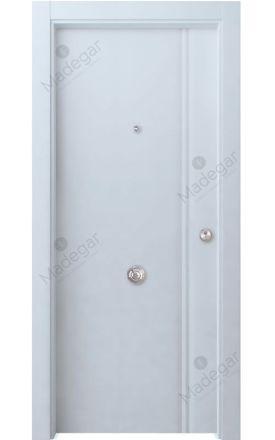 Puerta entrada seguridad madera blindada Selection Cameros - blanco. Madegar