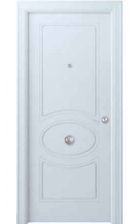 Puerta entrada seguridad madera blindada Selection Chiller - blanco. Madegar