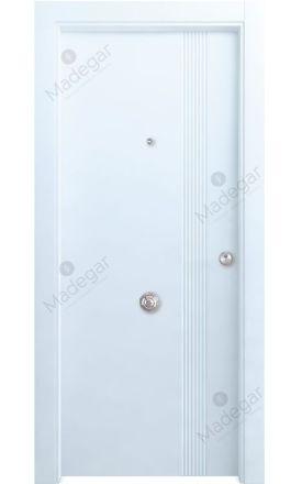 Puerta entrada seguridad madera blindada Selection Congost - blanco. Madegar