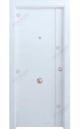 Puerta entrada seguridad madera blindada Selection Bardaji - blanco. Madegar