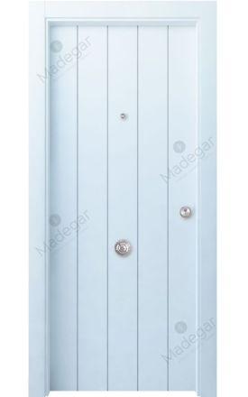 Puerta entrada seguridad madera blindada Innova Kobetas - blanco. Madegar