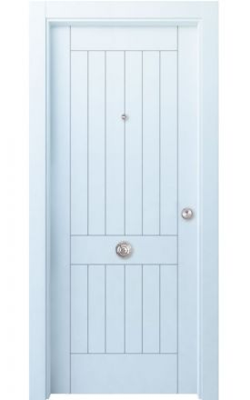 Puerta entrada seguridad madera blindada Innova Oza H1 - blanco. Madegar