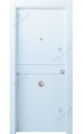Puerta entrada seguridad madera blindada Innova Sueve - blanco. Madegar