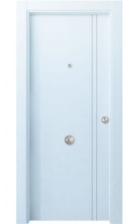 Puerta entrada seguridad madera blindada Innova Altube - blanco. Madegar