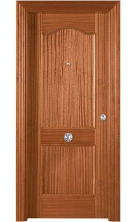 Puerta entrada seguridad madera blindada Plafonada Provenzal - sapelly natural F. Madegar