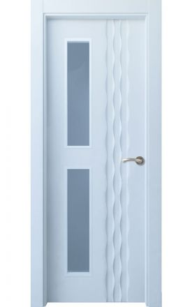 Puerta interior actual lacada Selection, termo-acústica ld7 Ulía 2VD, blanco. Madegar