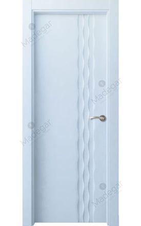Puerta interior actual lacada Selection, termo-acústica ld7 Ulía, blanco. Madegar