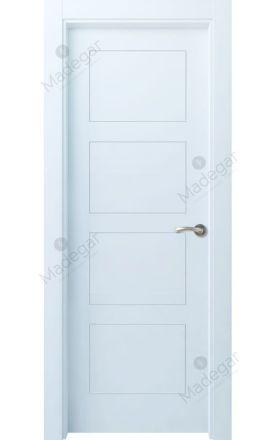 Puerta interior actual lacada Selection, termo-acústica ld7 Bertiz 4, blanco. Madegar