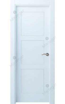 Puerta interior actual lacada Selection, termo-acústica ld7 Bertiz 3, blanco. Madegar