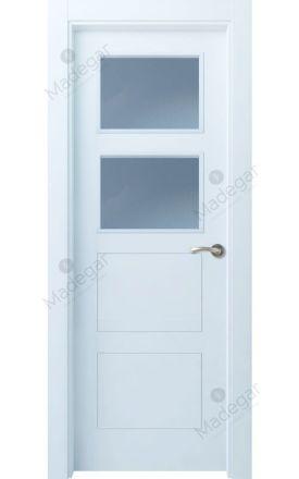 Puerta interior actual lacada Selection, termo-acústica ld7 Bertiz 4 2VE, blanco. Madegar