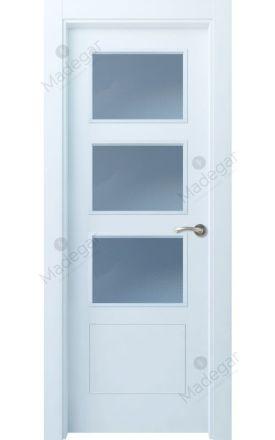Puerta interior actual lacada Selection, termo-acústica ld7 Bertiz 4 3VE, blanco. Madegar
