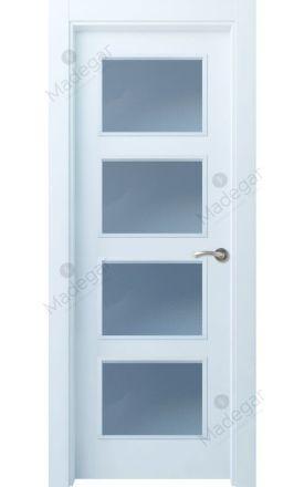 Puerta interior actual lacada Selection, termo-acústica ld7 Bertiz 4 4VE, blanco. Madegar
