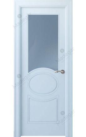 Puerta interior actual lacada Selection, termo-acústica ld7 Chiller 1VE, blanco. Madegar