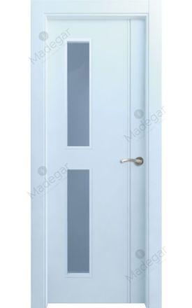 Puerta interior actual lacada Selection, termo-acústica ld7 Bardaji 2VD, blanco. Madegar