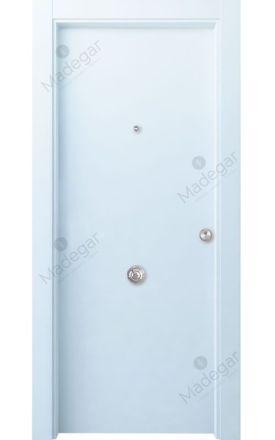 Puerta entrada seguridad madera blindada Innova Lisa - blanco. Madegar