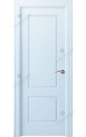 Puerta interior clásica lacada Angle, termo-acústica ld7 Bellver, blanco. Madegar