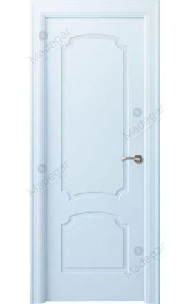 Puerta interior clásica lacada Angle, termo-acústica ld7 Faedo, blanco. Madegar