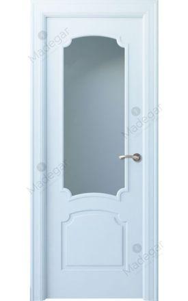 Puerta interior clásica lacada Angle, termo-acústica ld7 Faedo 1V, blanco. Madegar