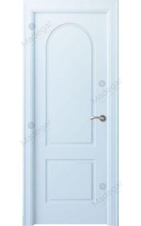 Puerta interior clásica lacada Angle, termo-acústica ld7 Tilos, blanco. Madegar