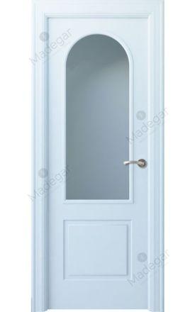 Puerta interior clásica lacada Angle, termo-acústica ld7 Tilos 1V, blanco. Madegar