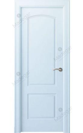 Puerta interior clásica lacada Angle, termo-acústica ld7 Lizana, blanco. Madegar