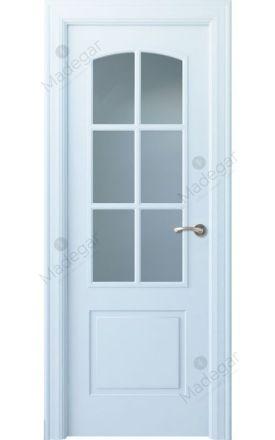 Puerta interior clásica lacada Angle, termo-acústica ld7 Lizana 6V, blanco. Madegar