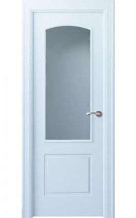 Puerta interior clásica lacada Angle, termo-acústica ld7 Lizana 1V, blanco. Madegar
