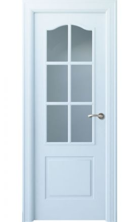 Puerta interior clásica lacada Angle, termo-acústica ld7 Saler 6V, blanco. Madegar