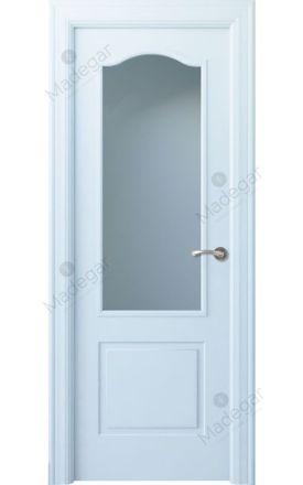 Puerta interior clásica lacada Angle, termo-acústica ld7 Saler 1V, blanco. Madegar