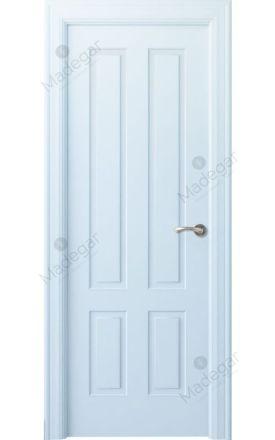 Puerta interior clásica lacada Angle, termo-acústica ld7 Rodeno, blanco. Madegar