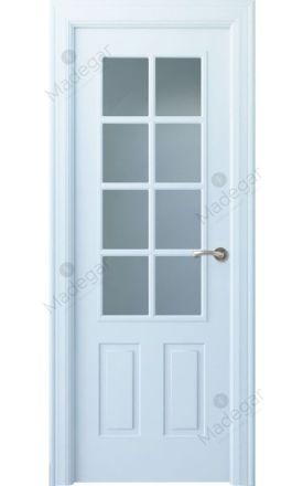 Puerta interior clásica lacada Angle, termo-acústica ld7 Rodeno 8V, blanco. Madegar