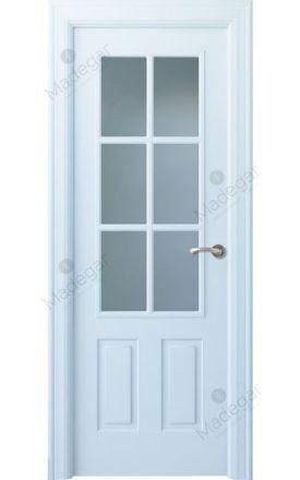 Puerta interior clásica lacada Angle, termo-acústica ld7 Rodeno 6V, blanco. Madegar