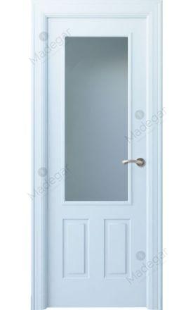 Puerta interior clásica lacada Angle, termo-acústica ld7 Rodeno 1V, blanco. Madegar