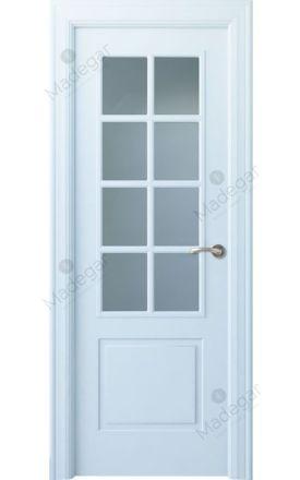 Puerta interior clásica lacada Angle, termo-acústica ld7 Bellver 8V, blanco. Madegar
