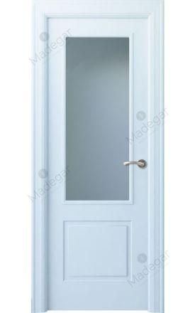 Puerta interior clásica lacada Angle, termo-acústica ld7 Bellver 1V, blanco. Madegar