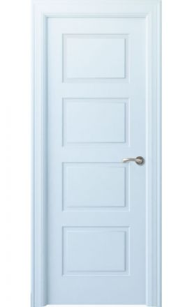 Puerta interior clásica lacada Angle, termo-acústica ld7 Eume, blanco. Madegar