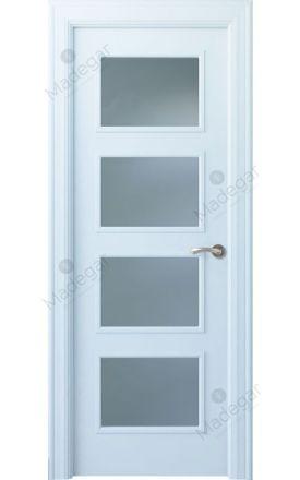 Puerta interior clásica lacada Angle, termo-acústica ld7 Eume 4V, blanco. Madegar