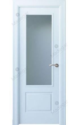 Puerta interior clásica lacada Angle, termo-acústica ld7 Eume 1V, blanco. Madegar
