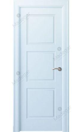 Puerta interior clásica lacada Angle, termo-acústica ld7 Urbión, blanco. Madegar