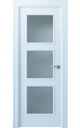 Puerta interior clásica lacada Angle, termo-acústica ld7 Urbión 3V, blanco. Madegar