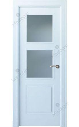 Puerta interior clásica lacada Angle, termo-acústica ld7 Urbión 2V, blanco. Madegar